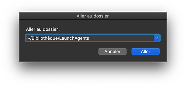 Aller au dossier /Bibliothèque/LaunchAgents