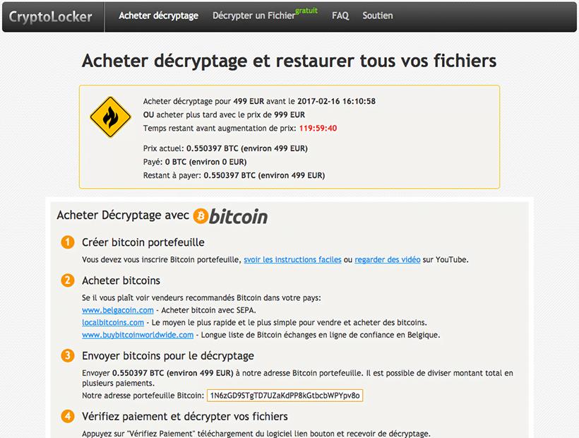 CryptoLocker: Acheter décryptage