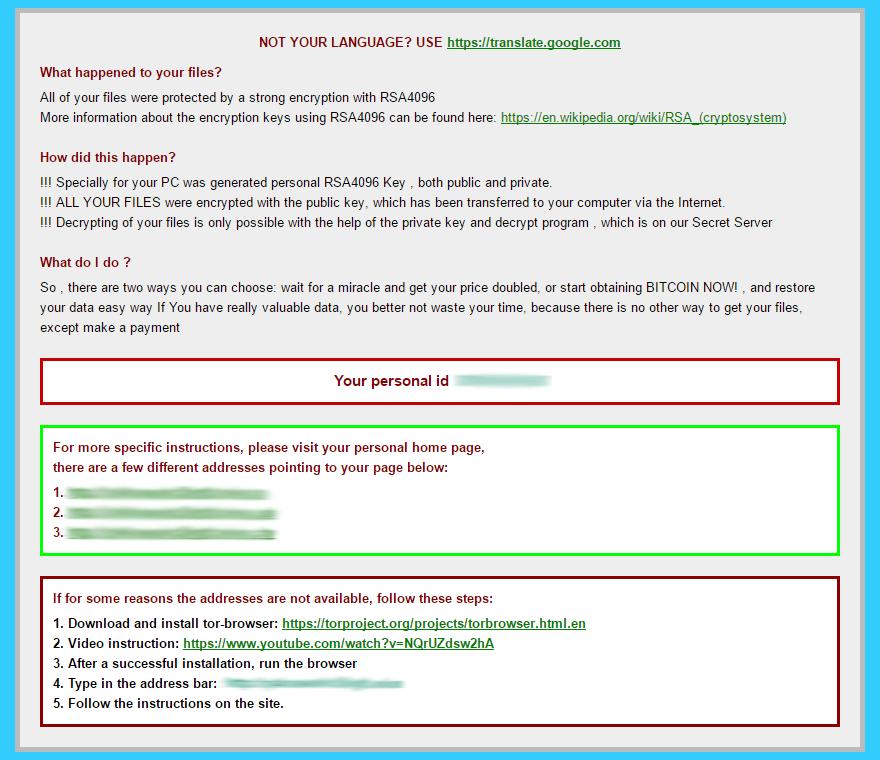 Document de_crypt_readme.html avec instructions de récupération