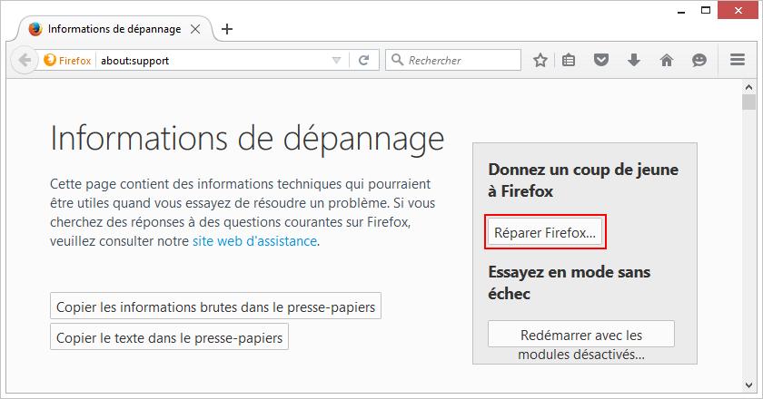 Firefox reparer