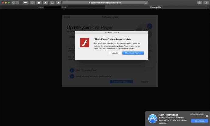 Une fausse astuce de mise à jour d'Adobe Flash Player diffusant Search Marquis