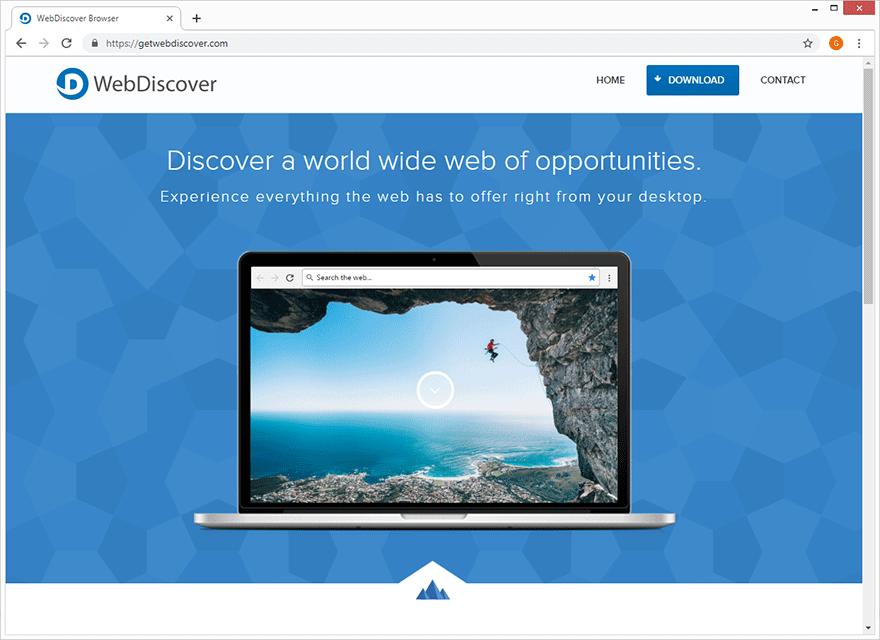 L'éditeur de WebDiscover Browser décrit l'application comme la meilleure des choses